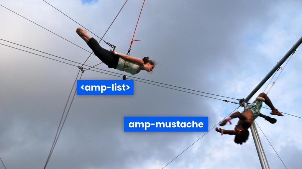 <amp-list> amp-mustache