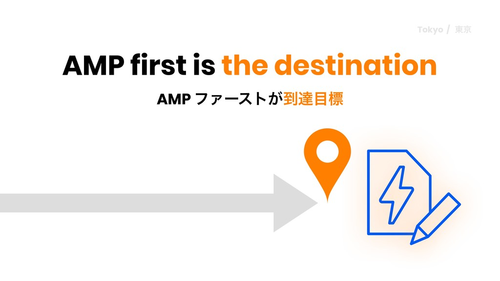 AMP ϑΝʔετ͕౸ୡඪ AMP first is the destination Tok...