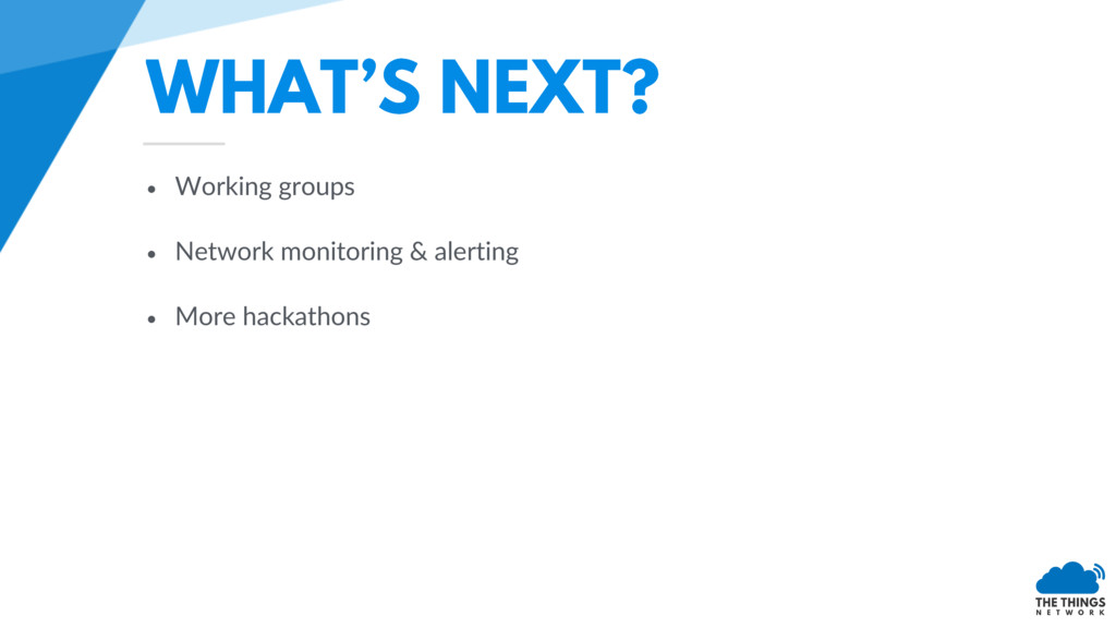 • Working groups • Network monitoring & alertin...