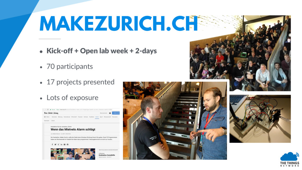 • Kick-off + Open lab week + 2-days • 70 partic...