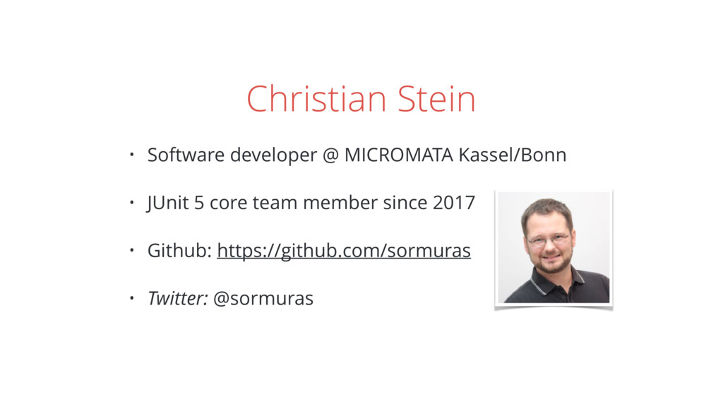 Christian Stein • Software developer @ MICROMAT...