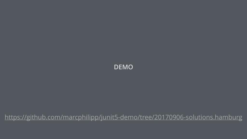 DEMO https://github.com/marcphilipp/junit5-demo...