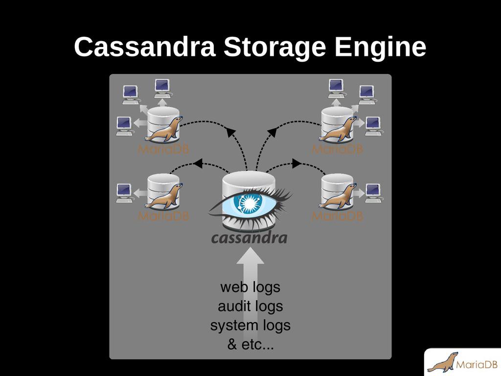 Cassandra Storage Engine & etc... system logs a...
