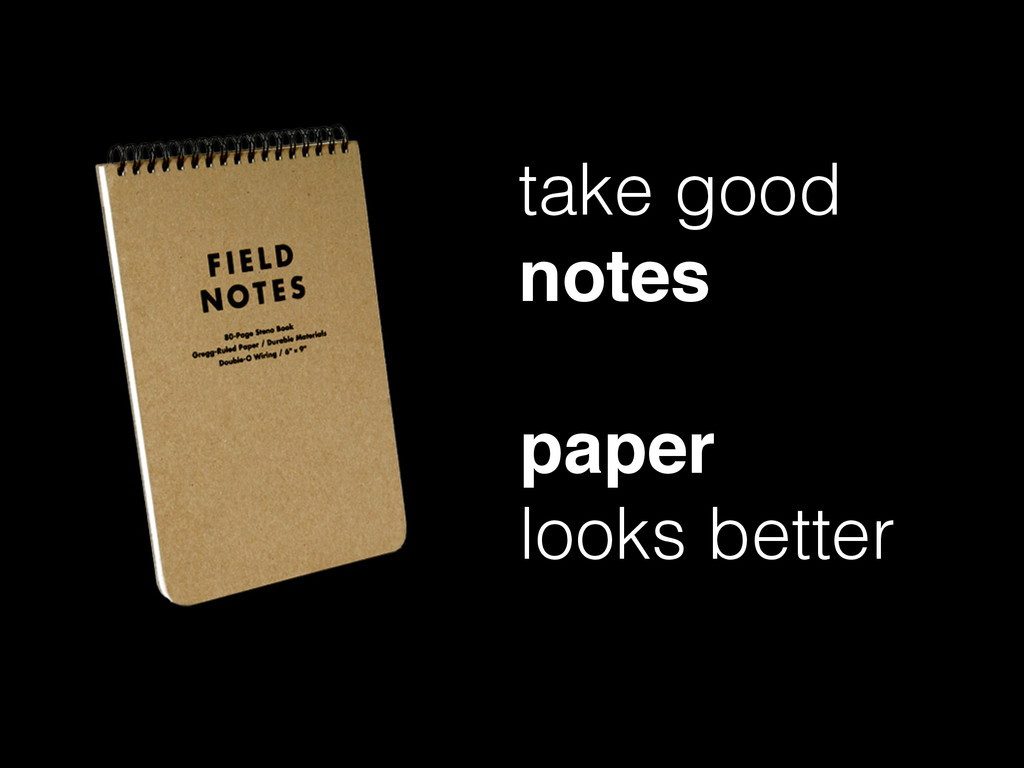 take good notes paper ! looks better
