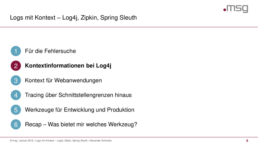 Logs mit Kontext – Log4j, Zipkin, Spring Sleuth...
