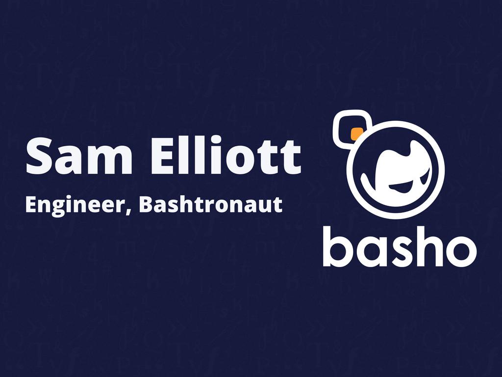Engineer, Bashtronaut Sam Elliott