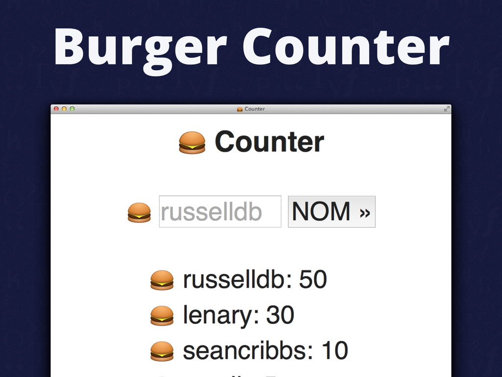 Burger Counter