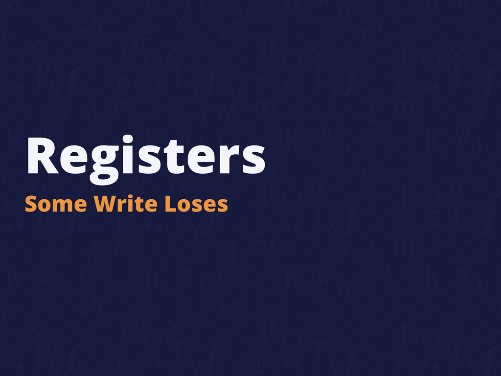 Registers Some Write Loses