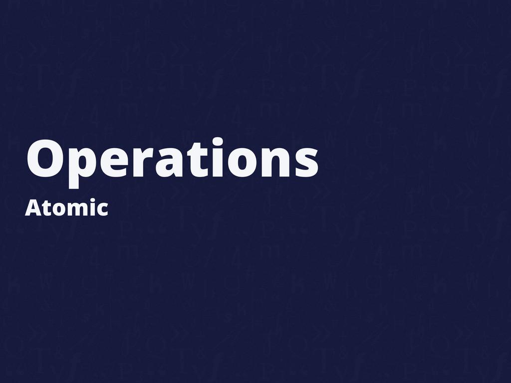 Operations Atomic