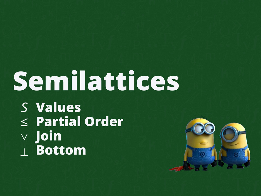 Semilattices S ≤ ∨ ⊥ Values Partial Order Join ...