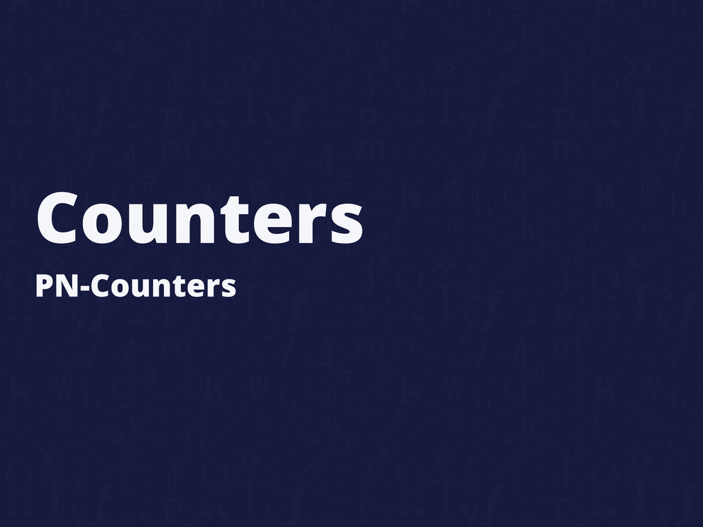 Counters PN-Counters