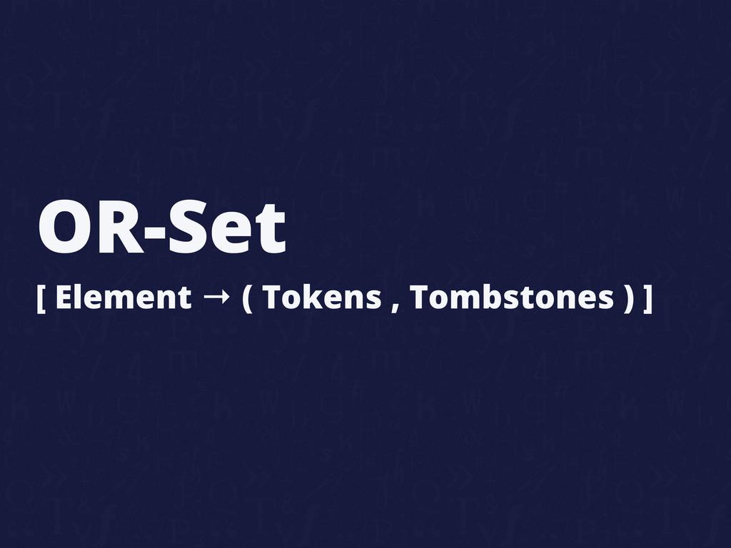 OR-Set [ Element → ( Tokens , Tombstones ) ]
