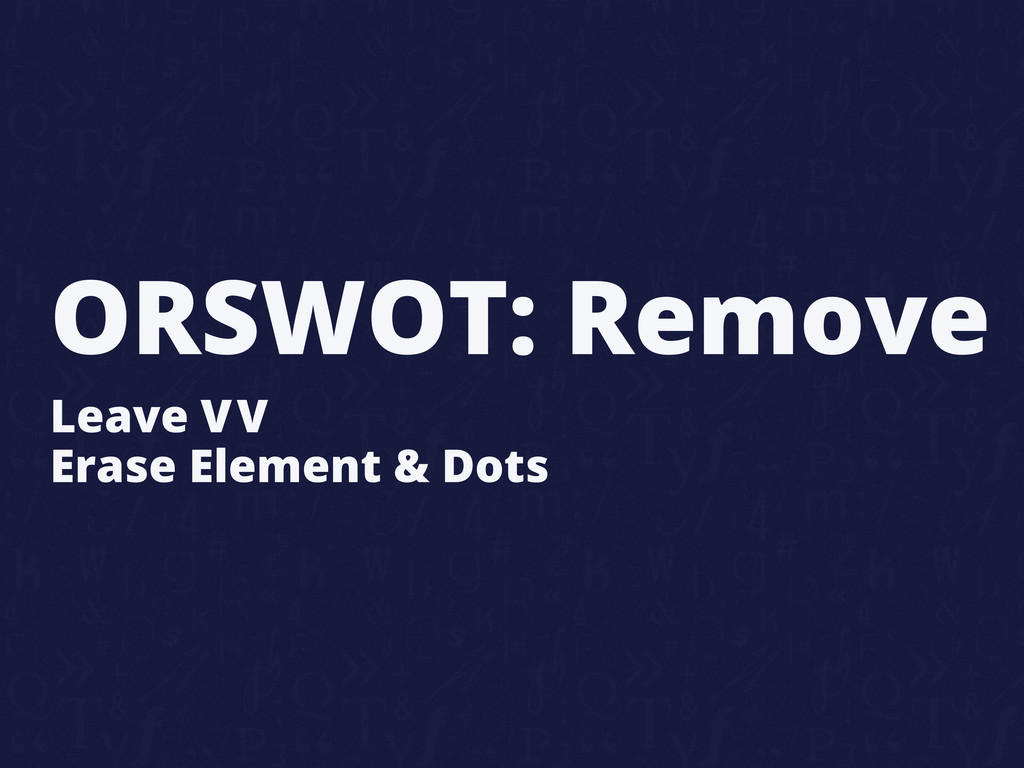 ORSWOT: Remove Leave VV Erase Element & Dots