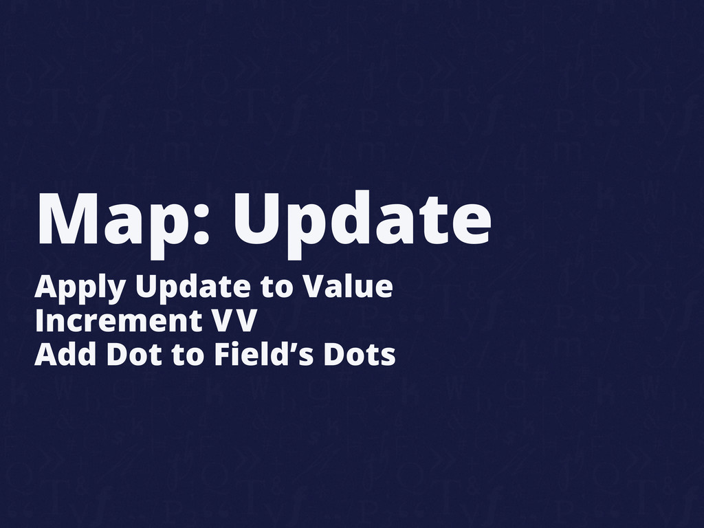 Map: Update Apply Update to Value Increment VV ...
