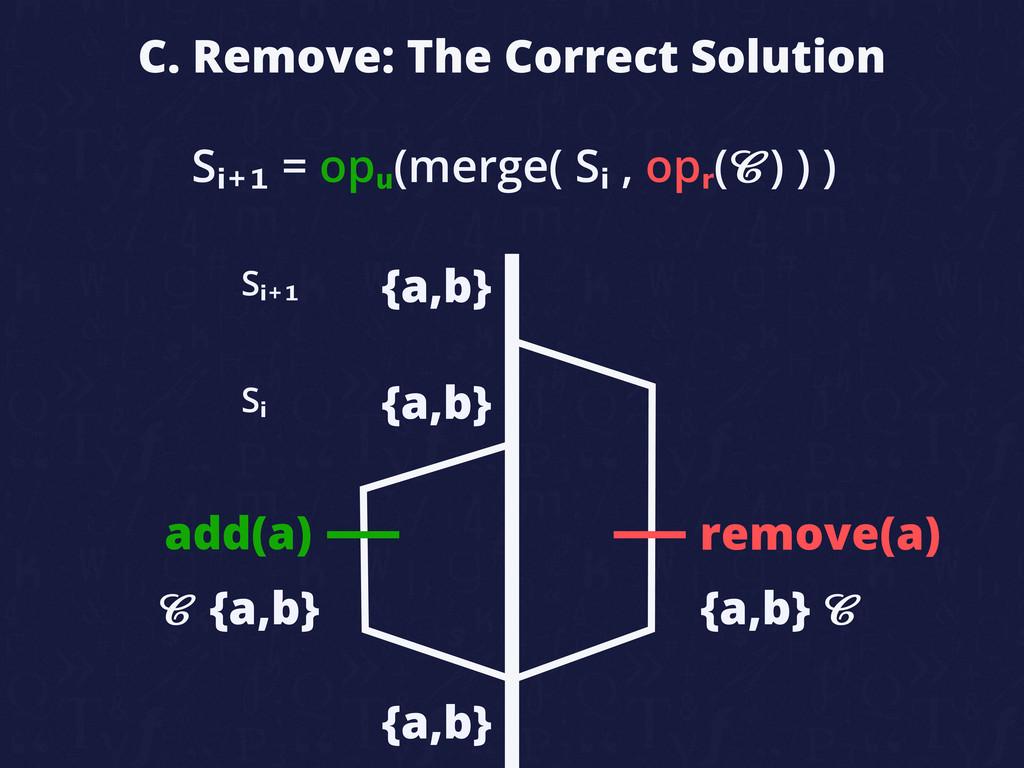 C. Remove: The Correct Solution add(a) remove(a...