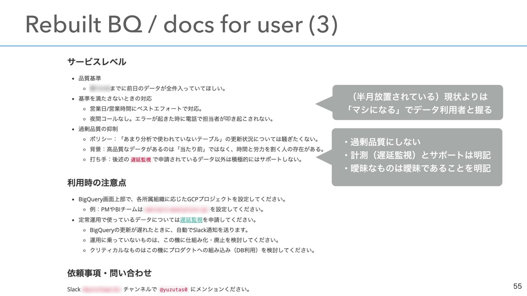 ɹRebuilt BQ / docs for user (3) ʢ݄์ஔ͞Ε͍ͯΔ...