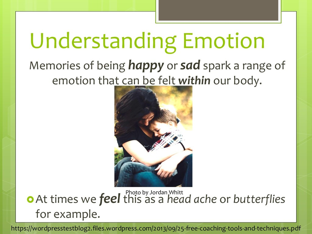 Understanding Emotion Memories of being happy o...