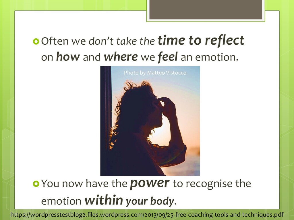 Often we don't take the time to reflect on how...
