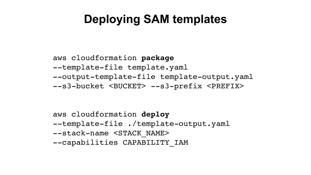 Deploying SAM templates aws cloudformation pack...