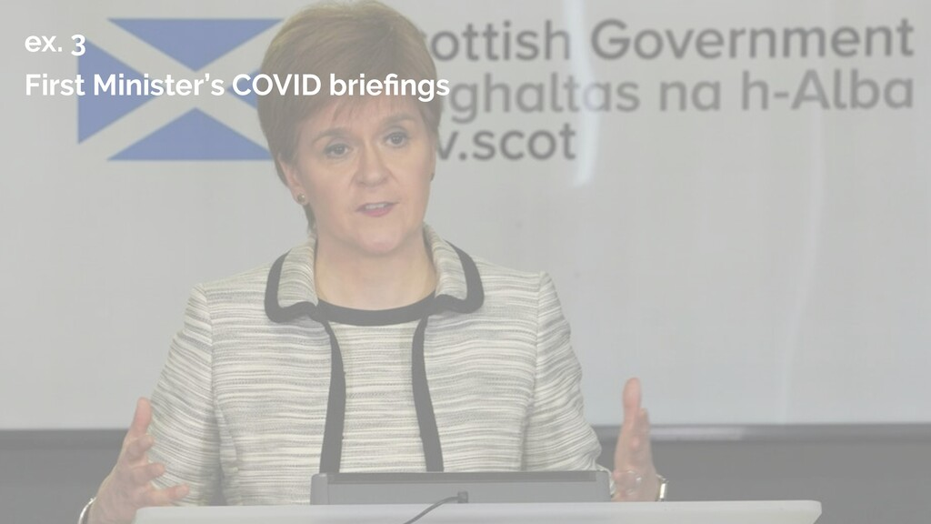 ex. 3   First Minister's COVID brie fi ngs
