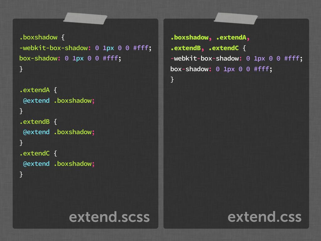 extend.css extend.scss .boxshadow { -webkit-box...
