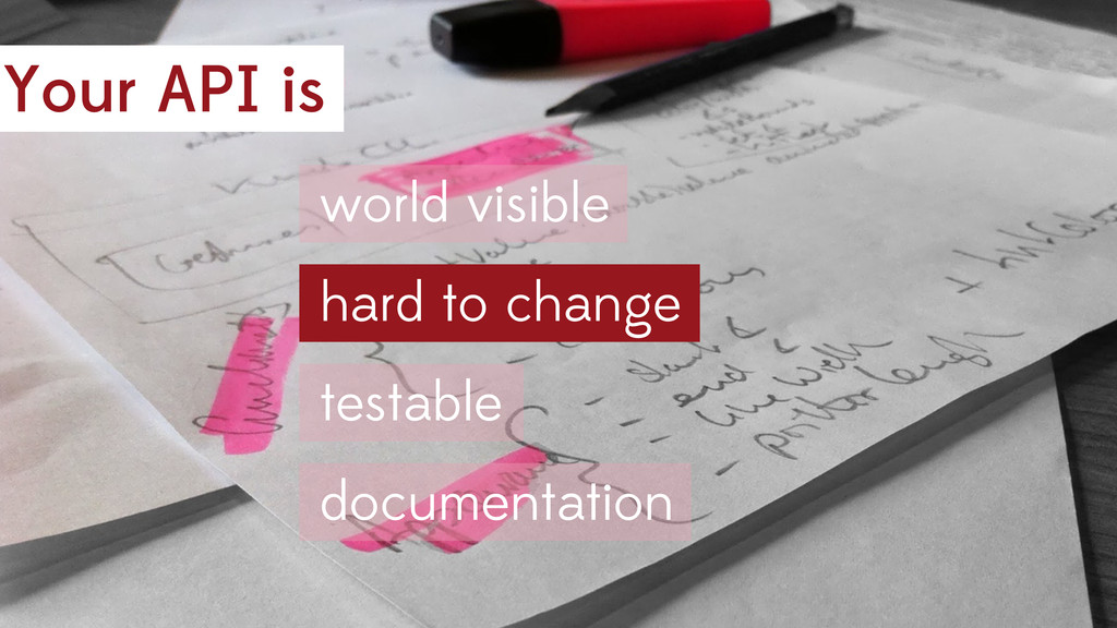 Your API is hard to change world visible testab...
