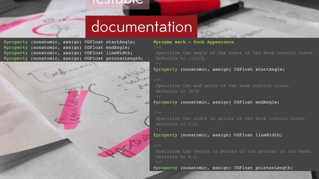 testable documentation #pragma mark - Knob Appe...
