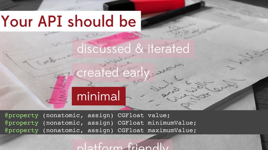 Your API should be minimal @property (nonatomic...