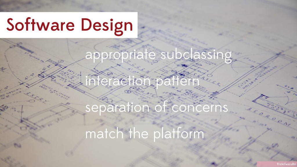 Software Design interaction pattern appropriate...