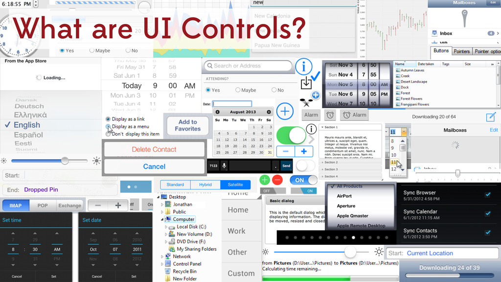 What are UI Controls?