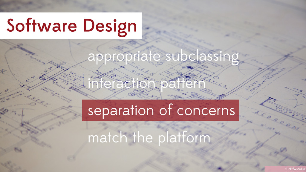 interaction pattern appropriate subclassing sep...