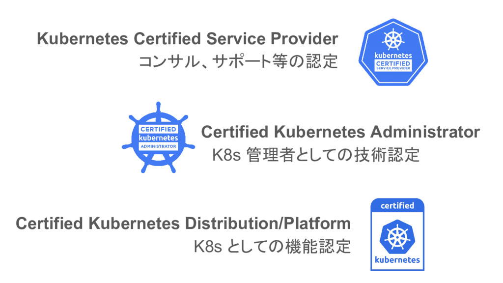 Kubernetes Certified Service Provider コンサル、サポート...