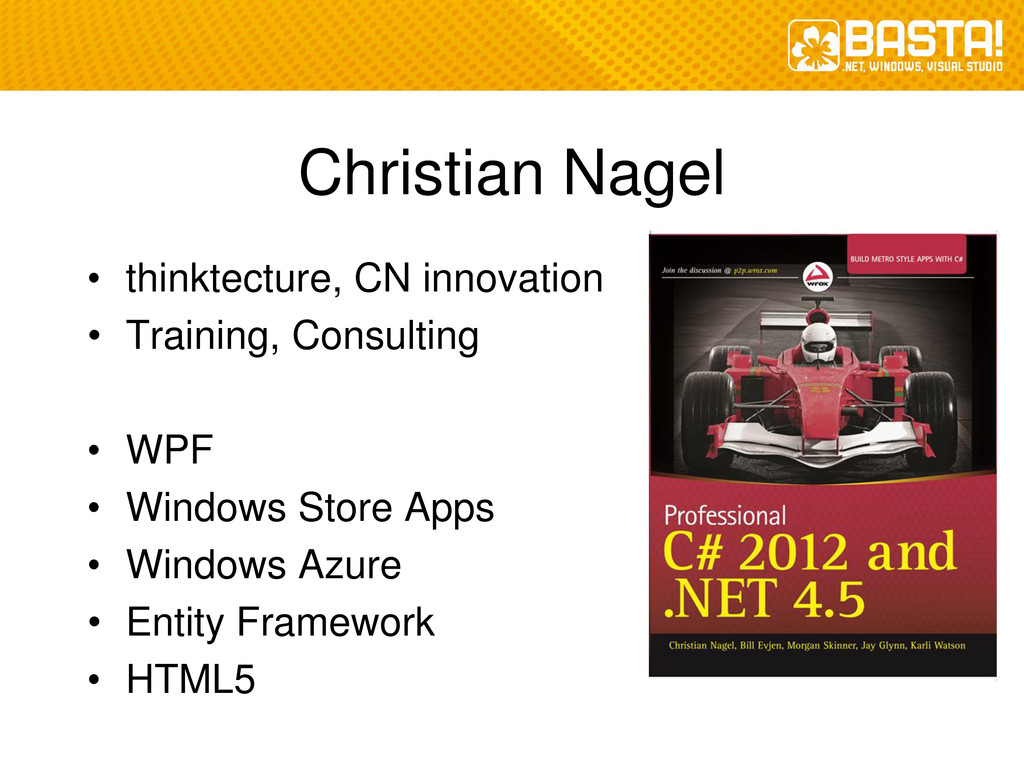 Christian Nagel • thinktecture, CN innovation •...