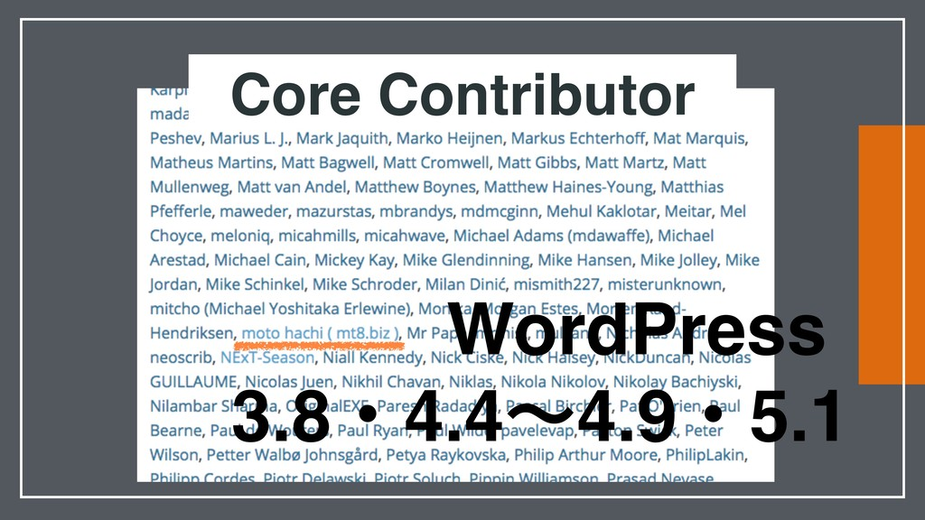 Core Contributor WordPress 3.8ɾ4.4ʙ4.9ɾ5.1