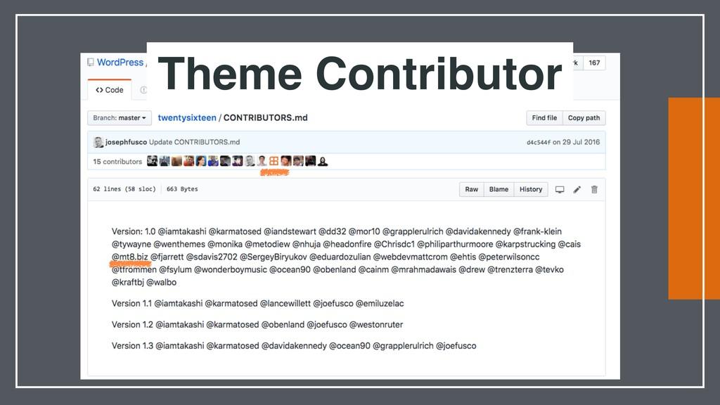 Theme Contributor
