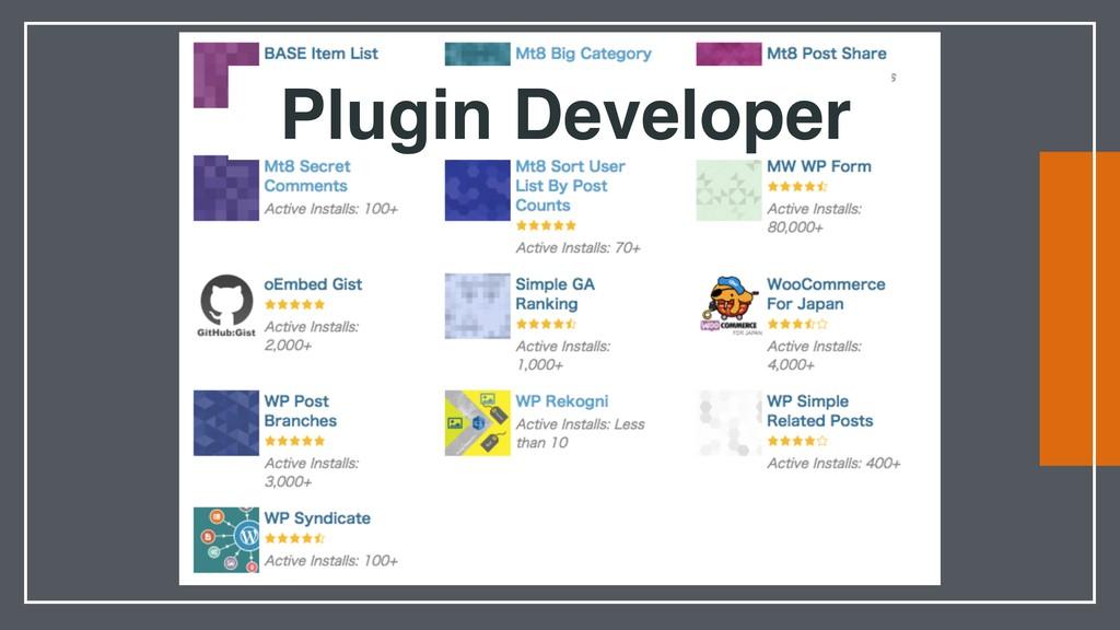 Plugin Developer