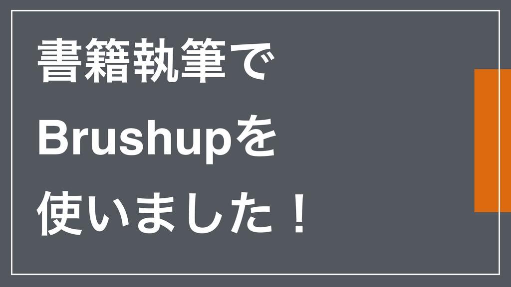 ॻ੶ࣥචͰ BrushupΛ ͍·ͨ͠ʂ