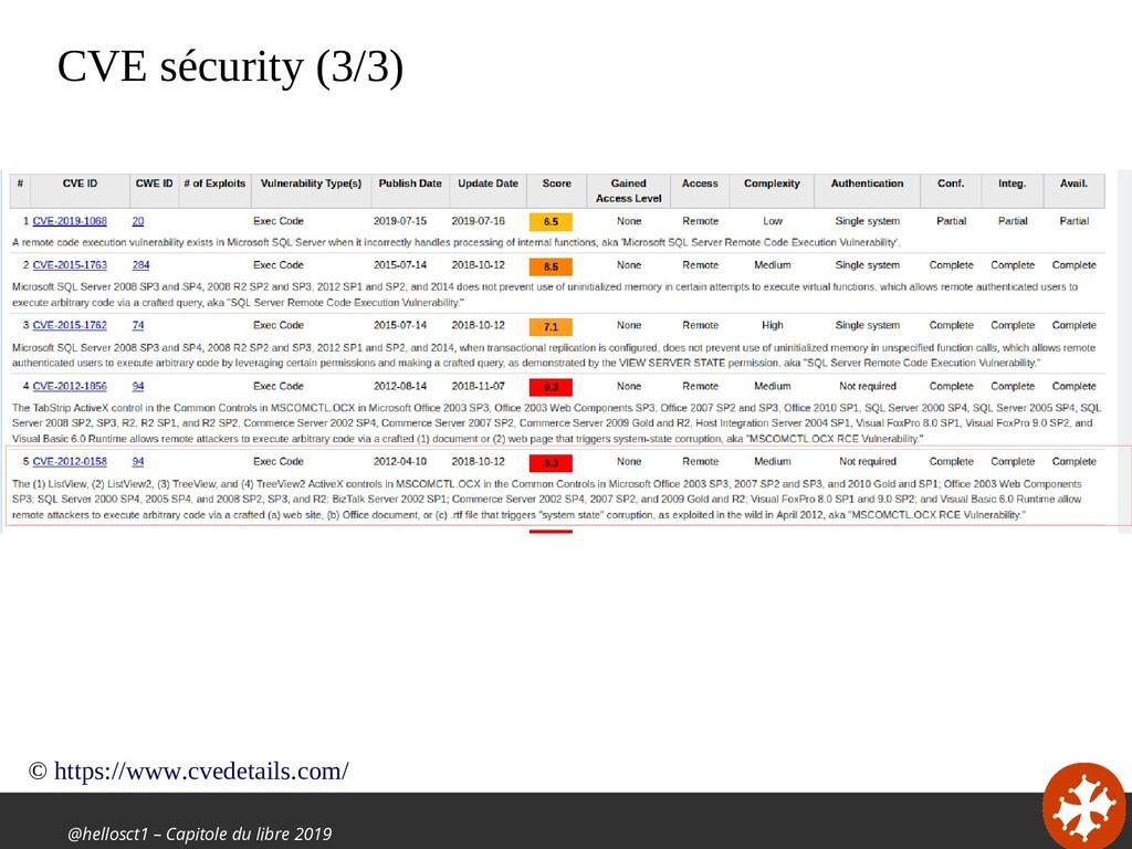 @hellosct1 – Capitole du libre 2019 CVE sécurit...