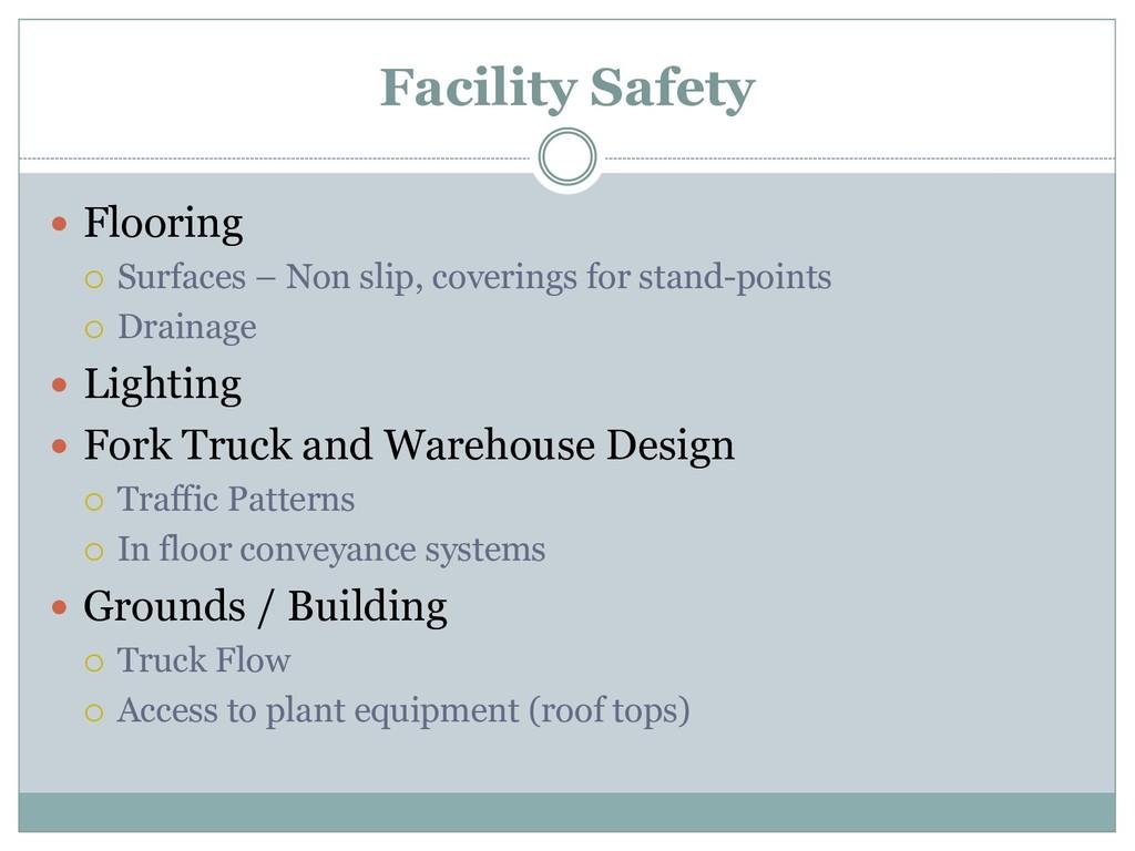 Facility Safety  Flooring  Surfaces – Non sli...