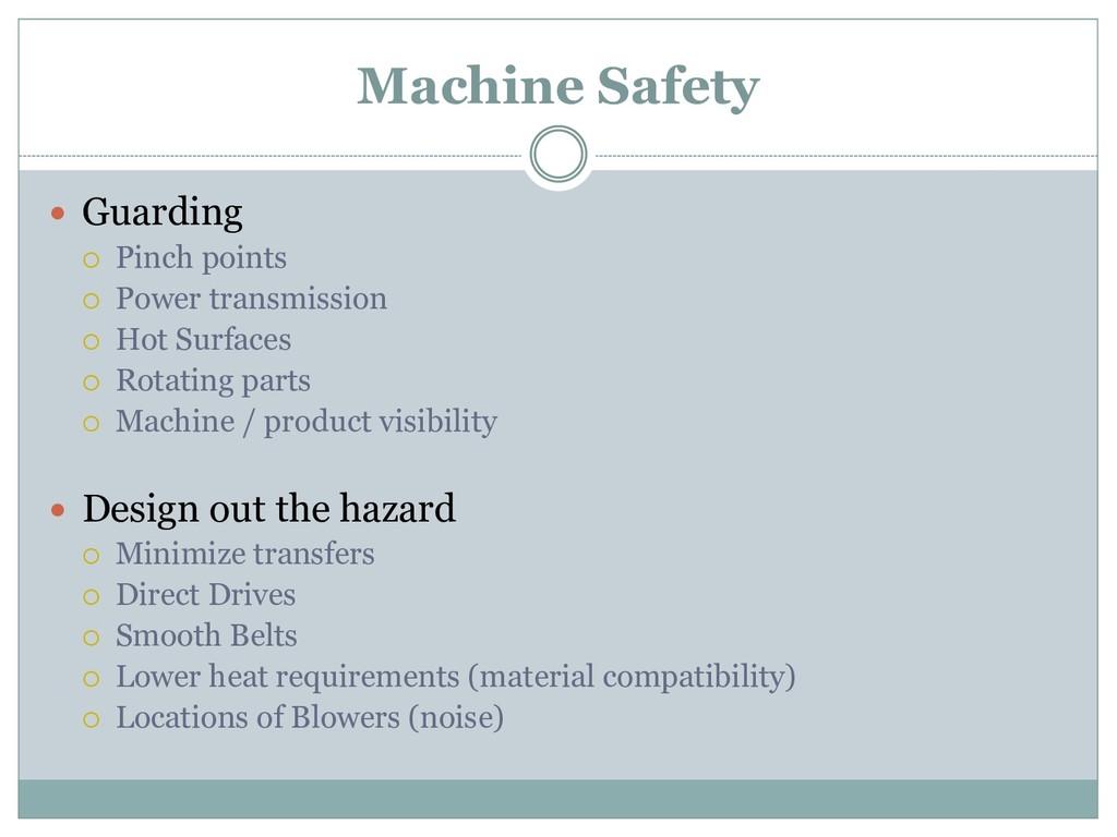 Machine Safety  Guarding  Pinch points  Powe...