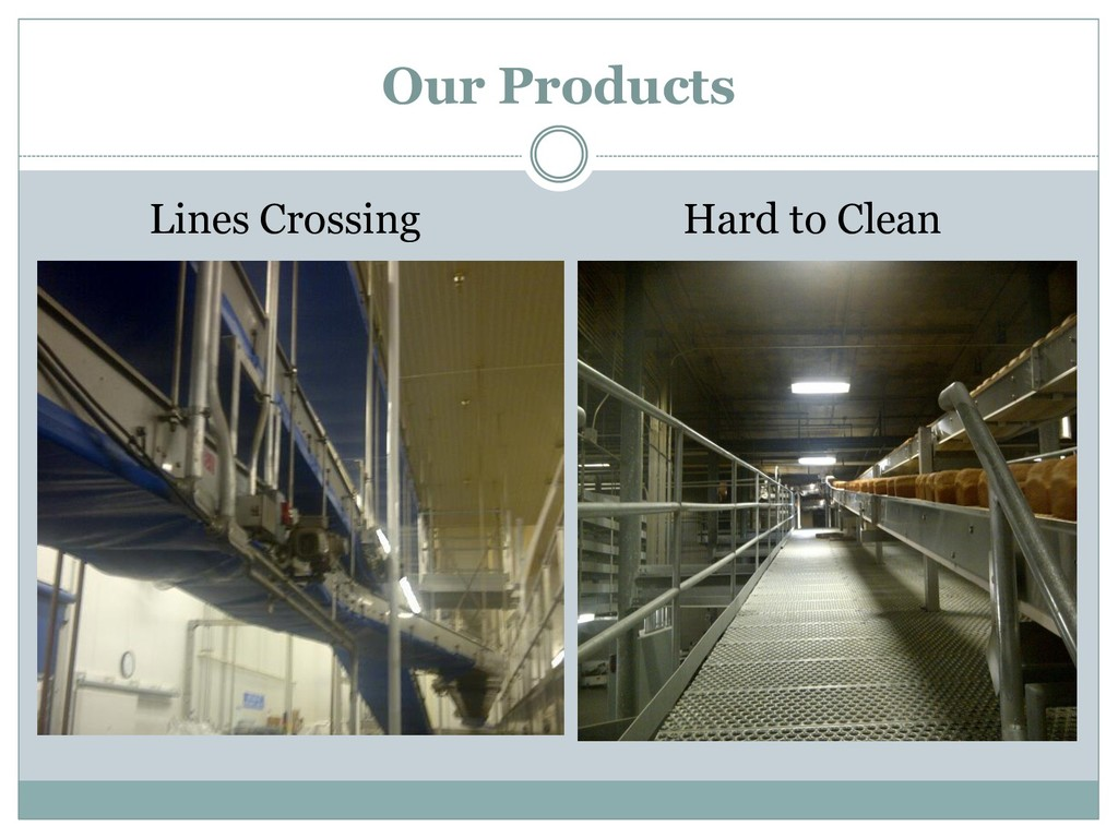 Lines Crossing Hard to Clean Our Products