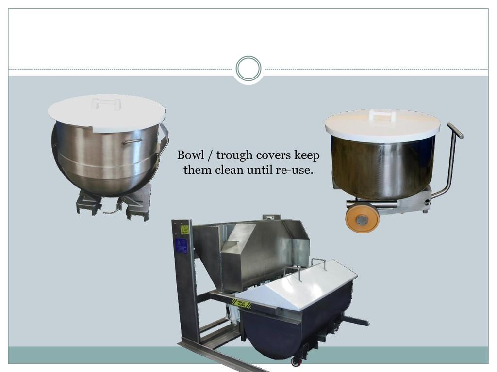 Bowl / trough covers keep them clean until re-u...