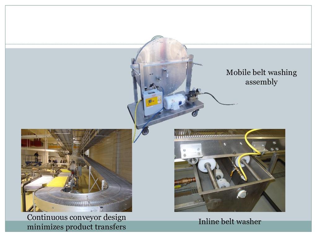 Mobile belt washing assembly Inline belt washer...