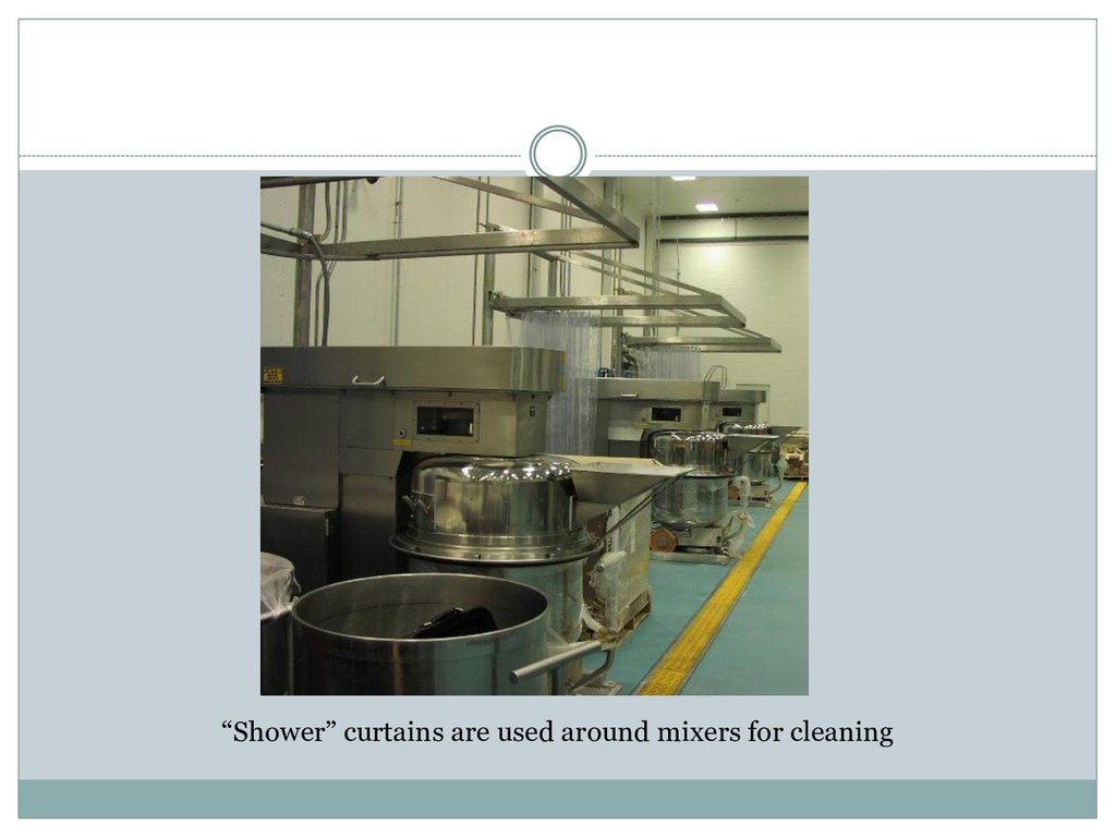 """""""Shower"""" curtains are used around mixers for cl..."""