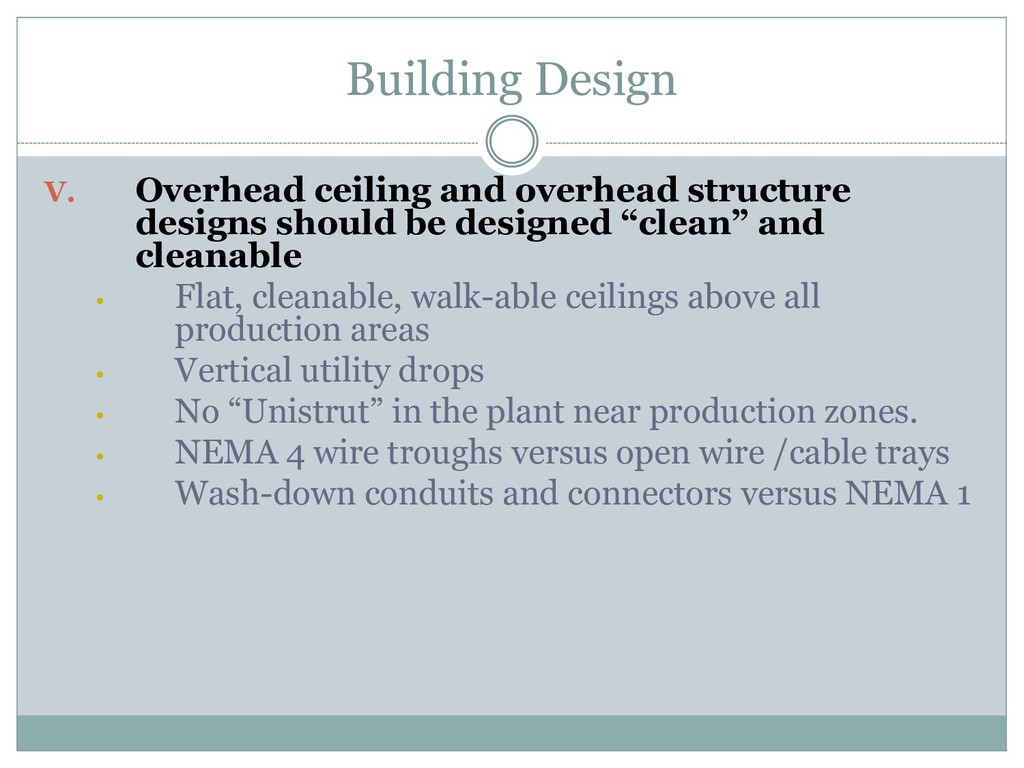 Building Design V. Overhead ceiling and overhea...