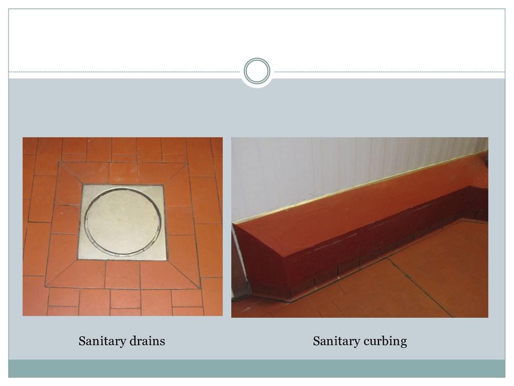Sanitary drains Sanitary curbing