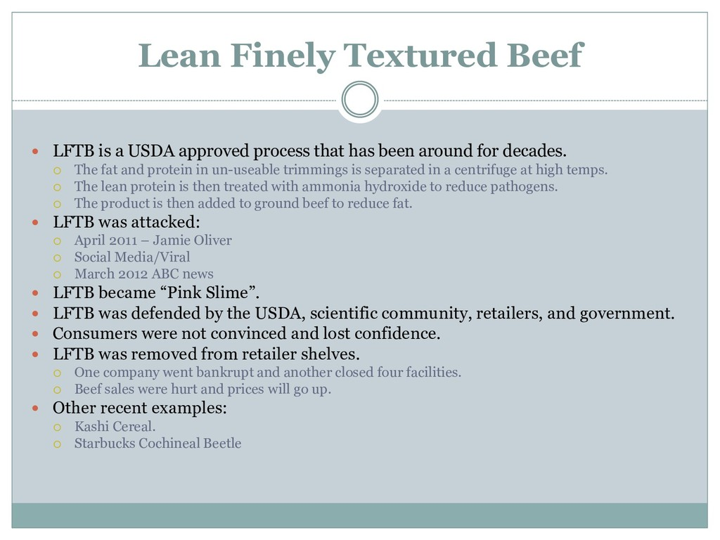 Lean Finely Textured Beef  LFTB is a USDA appr...