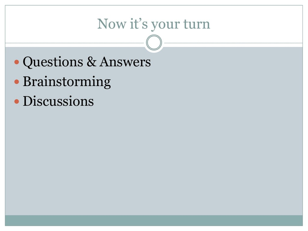 Now it's your turn  Questions & Answers  Brai...