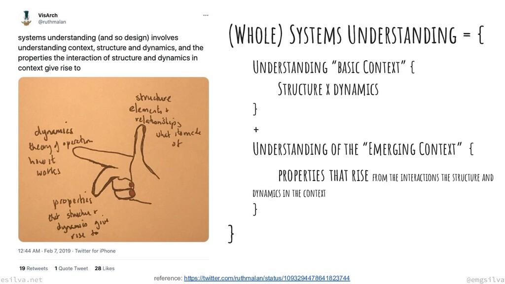 @emgsilva esilva.net @emgsilva (Whole) Systems ...