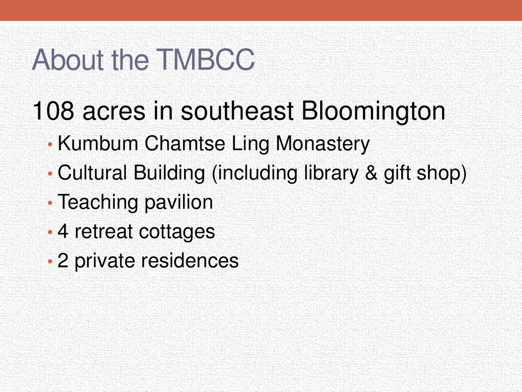 About the TMBCC 108 acres in southeast Blooming...